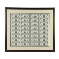 Uncut Sheet US $1 Dollars