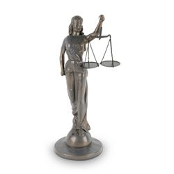Lady Justice Spelter Statuette