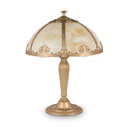 Slag Panel Table Lamp