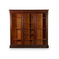 Impressive Oak Library Bookcase