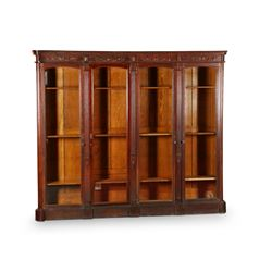 Impressive Oak Library Bookcase