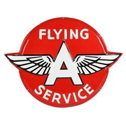 Flying  A  Service Raised Porcelain Sign