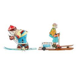 Japan Wind-up Skier Toys