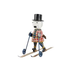 Occupied Japan Wind-up Skier Toy