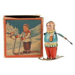 German Wind-up Skier Toy