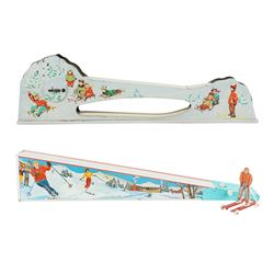 Tin Litho Mechanical Ski Toys