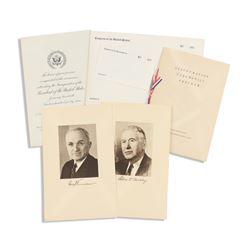 Truman Inauguration Ephemera