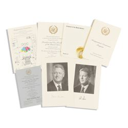 Clinton Inauguration Ephemera