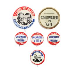 Goldwater & Miller Political Pinbacks