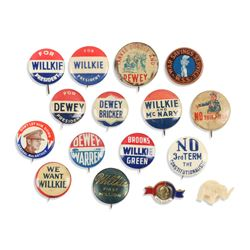 1940s Political Pinbacks, Lapel Stud