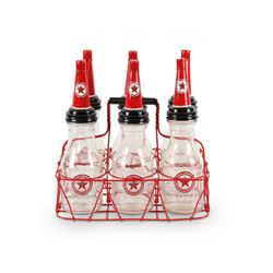 Texaco Oil Bottles, Carrier