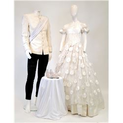 """""""Cinderella"""" and """"Prince Thomas"""" wedding ensembles from Once Upon a Time Season 1, Episode 4."""
