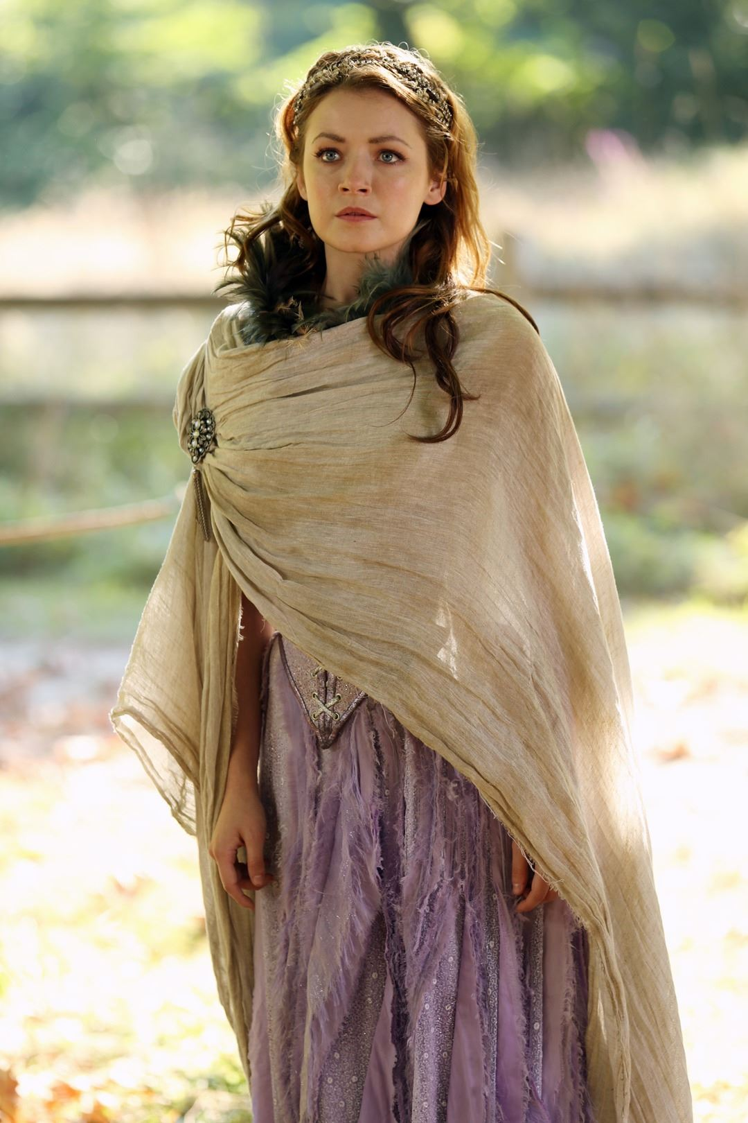 """Princess Aurora"" gown, cloak, and crown ensemble from Once Upon a Time  Season 2, Episode 5"