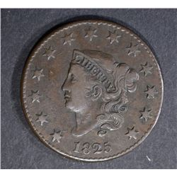 1825 LARGE CENT N-3, VF+