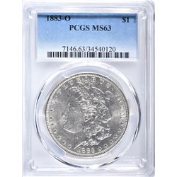 1883-O MORGAN DOLLAR, PCGS MS-63