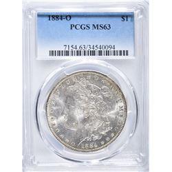 1884-O MORGAN DOLLAR, PCGS MS-63
