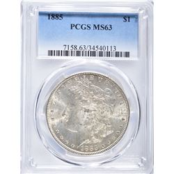 1885 MORGAN DOLLAR, PCGS MS-63