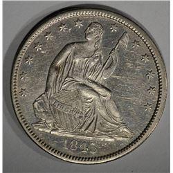 1845-O SEATED LIBERTY HALF DOLLAR  AU/BU