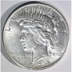1934-S PEACE DOLLAR AU/BU