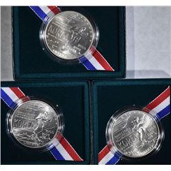 3 - 1991 KOREAN WAR UNC SILVER $1