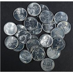 25-BU 1943-S LINCOLN STEEL CENTS