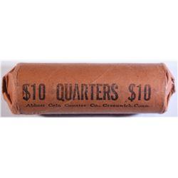 WRAPPED ROLL OF 1964 WASHINGTON QUARTERS