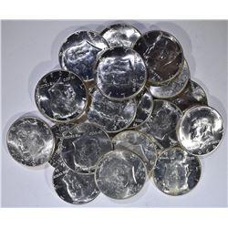 BU ROLL OF 1964 OR 64-D KENNEDY HALF DOLLARS