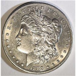 1889-S MORGAN DOLLAR  AU/BU