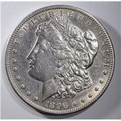 1896-S MORGAN DOLLAR AU+