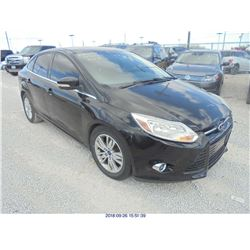 2012 - FORD FOCUS // SALVAGE TITLE // EXPORT