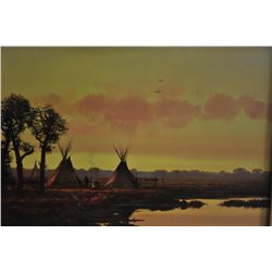 18JZ-18 COLEMAN GOLDEN TEEPEE PAINTING