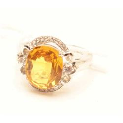 18RPS-52 YELLOW SAPPHIRE RING