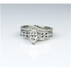 18CAI-30 DIAMOND ENGAGEMENT/WEDDING RING