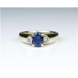 18CAI-59 SAPPHIRE  DIAMOND RING