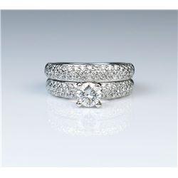 18CAI-23 DIAMOND ENGAGEMENT  WEDDING BAND