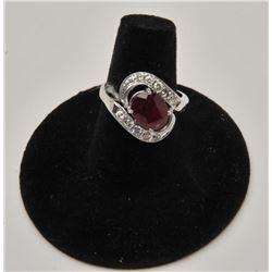 18RPS-38 RUBY  DIAMOND RING