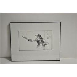 18ln-517 cowboy sketch