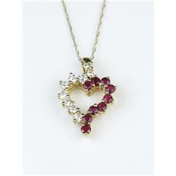 18CAI-64 RUBY  DIAMOND PENDANT
