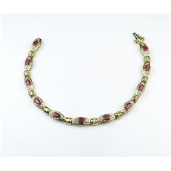 18CAI-54 RUBY  DIAMOND BRACELET