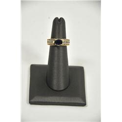 18PD-10 SAPPHIRE  DIAMOND RING