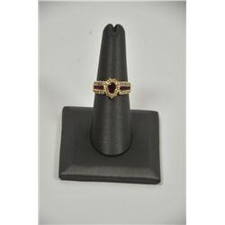 18PD-12 RUBY  DIAMOND RING