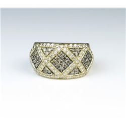 18CAI-36 LEVIAN WHITE  CHAMPAGNE DIAMOND RING