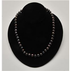 18RPS-25  BLACK/PEACOCK COLORED PEARLS