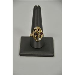 18RPS-20 RUBY  DIAMOND RING