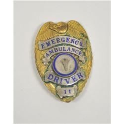 18PL-8 EMERGENCY AMBULANCE BADGE