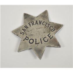 18PL-6 ANTIQUE SAN FRANCISCO POLICE BADGE