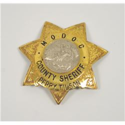 18PL-4 MODOC COUNTY SHERIFF BADGE