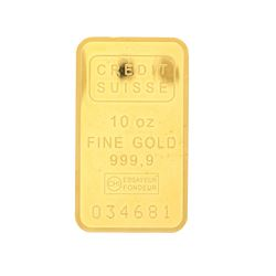 BULLION: (10) ounces Credit Suisse 999,9 fine gold bar; Serial Number 034681.