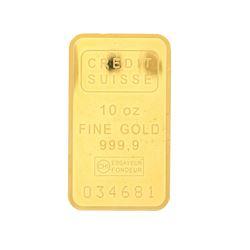 BULLION: (10) ounces Credit Suisse 999,9 fine gold bar; Serial Number 034681.
