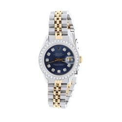 WATCH: [1] 18kt and Stainless steel ladies Rolex DateJust Oyster Perpetual automatic wristwatch; Aft